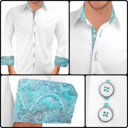 white-and-teal-dress-shirt
