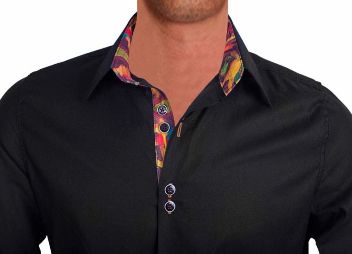 Black-with-multicolor-dress-shirts-