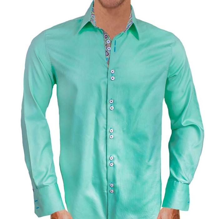 Light-Green-Designer-Mens-Dress-Shirts