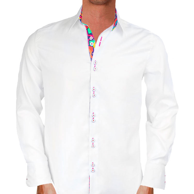 White-and-multicolor-dress-shirts