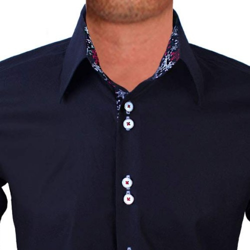 Black-dress-shirt-with-snow-flake-contrast