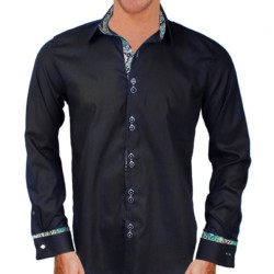 Black-with-green-and-gold-dress-shirts