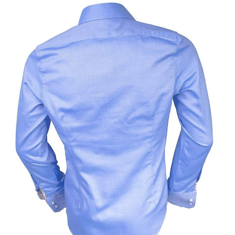 Blue-with-brown-dress-shirts