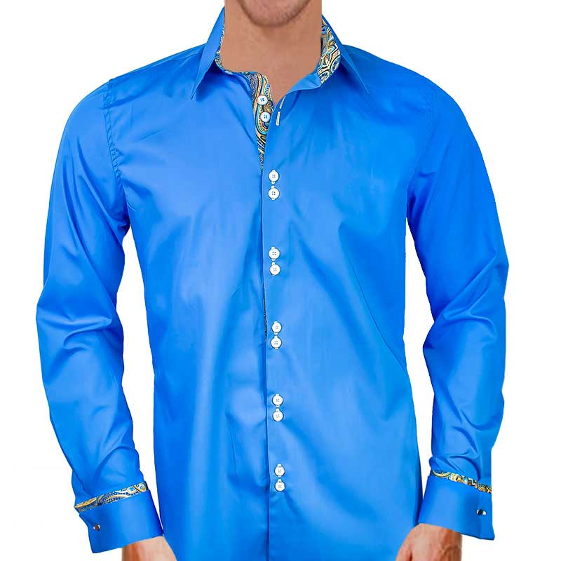 Blue-with-gold-french-cuff-dress-shirts