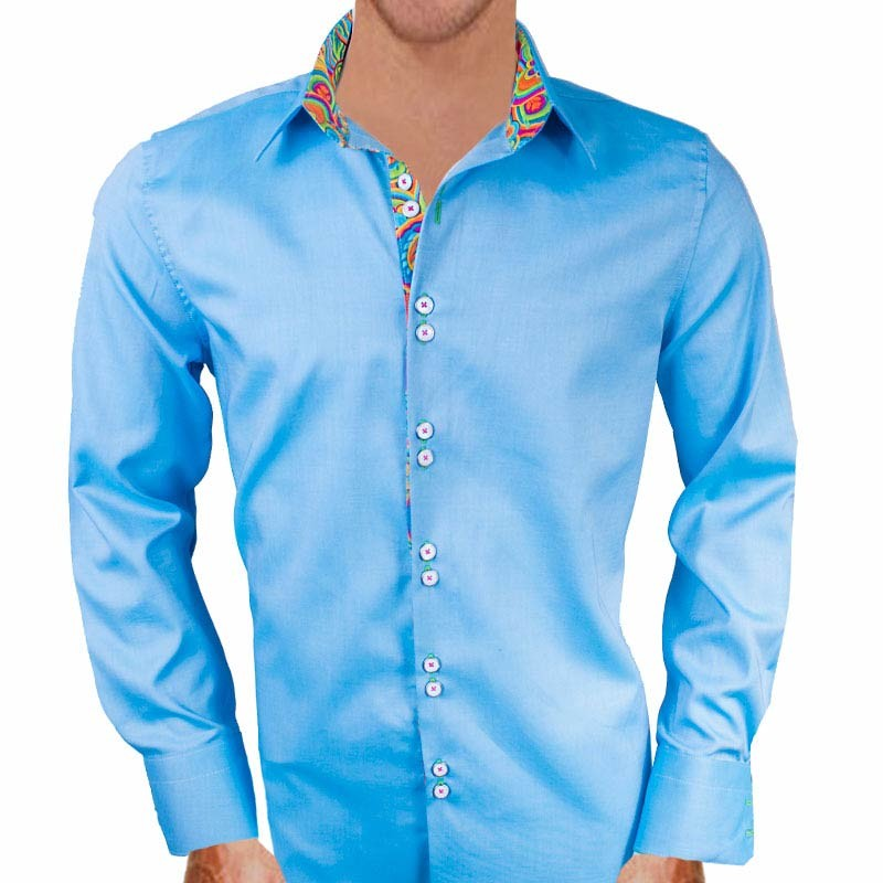 Blue-with-multi-color-contrast-dress-shirts