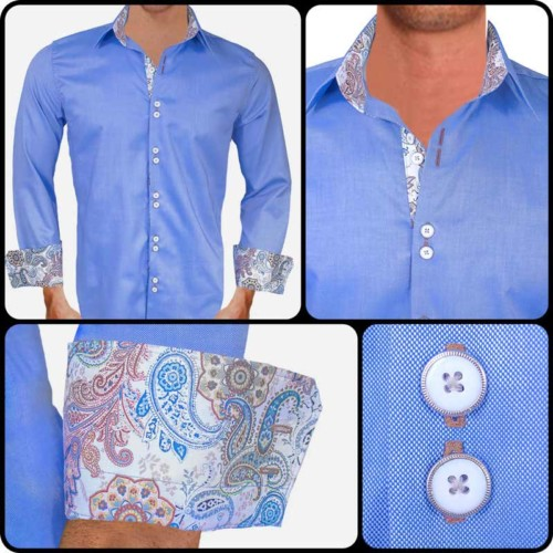 Blue-with-white-paisley-dress-shirts