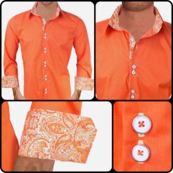 Bright-Orange-Mens-Dress-Shirts