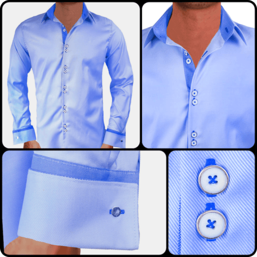 Light Blue French Cuff Dress Shirts