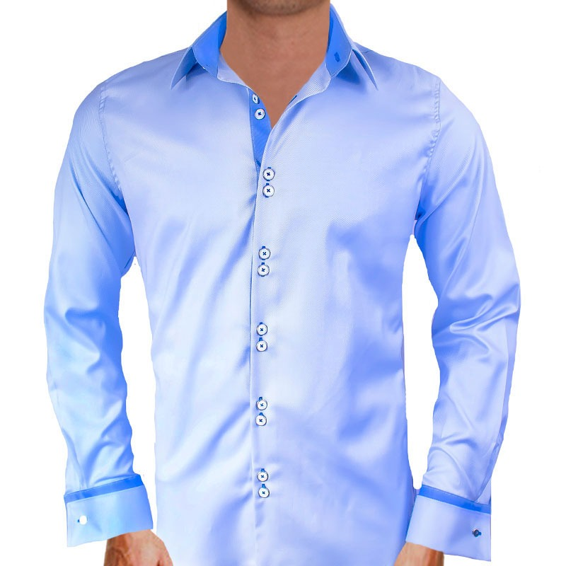 Blue French Cuff Dress Shirts