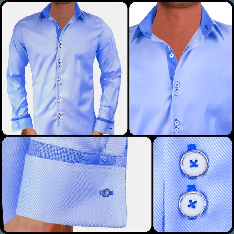 Light Blue French Cuff Dress Shirts