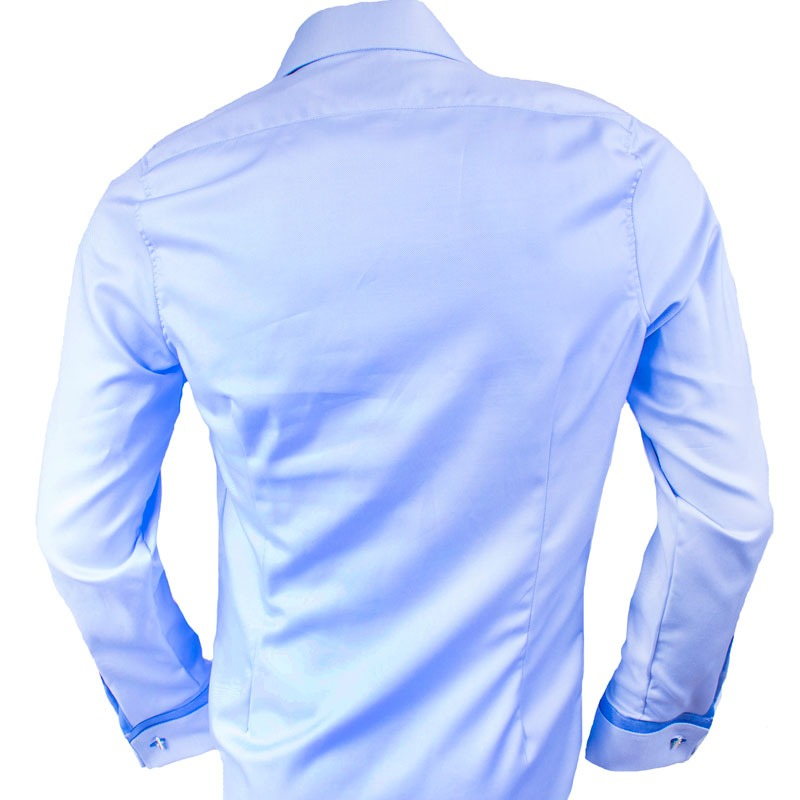 Blue french cuff dress shirts for Mens dress shirts french cuffs