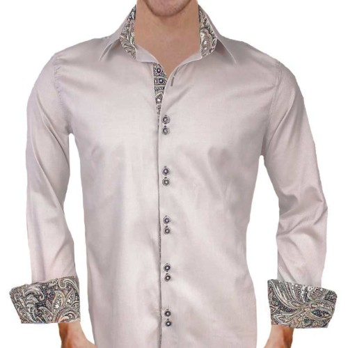 Tan-with-Brown-Paisley-Dress-Shirts