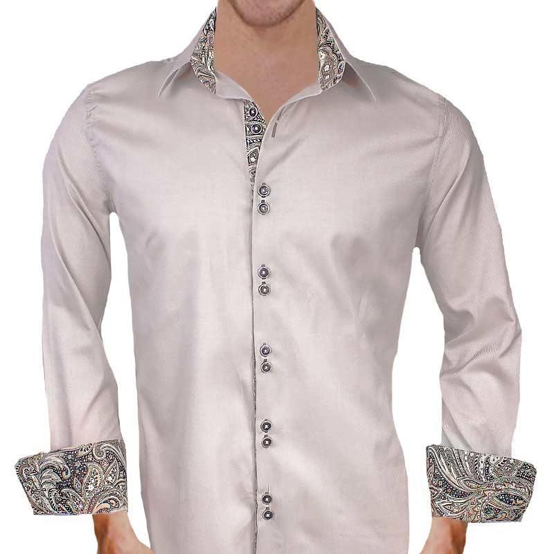 Tan-with-Brown-Paisley-Dress-Shirts