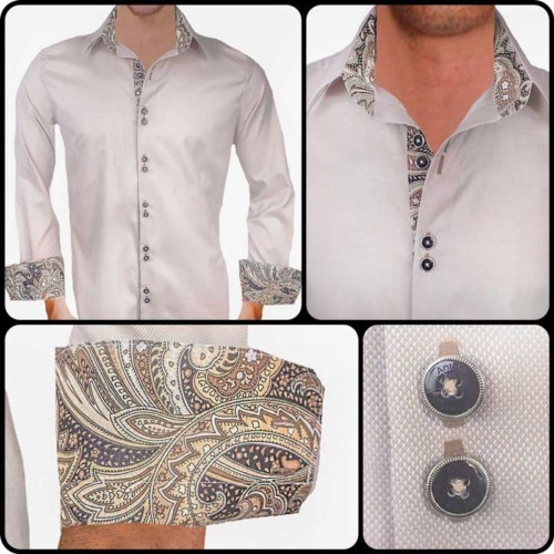 Tan-with-black-paisley-dress-shirts