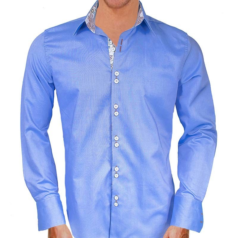 blue-with-white-and-brown-dress-shirts