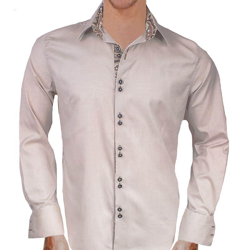 cream-and-black-dress-shirts