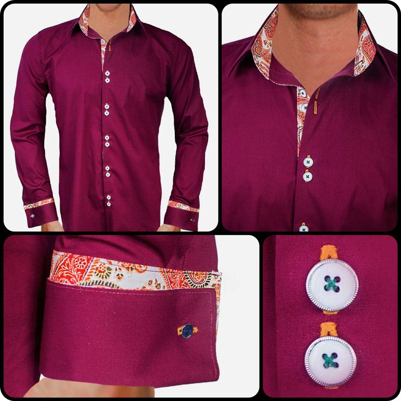 maroon-and-orange-paisley-dress-shirts