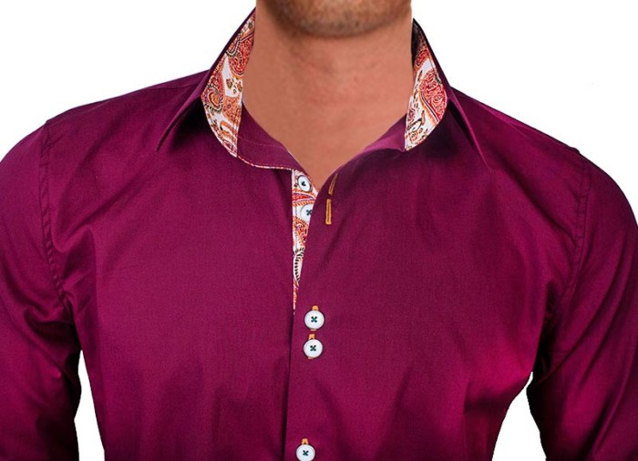 maroon-with-orange-dress-shirts