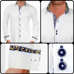 white-and-gold-French-Cuff-dress-shirts