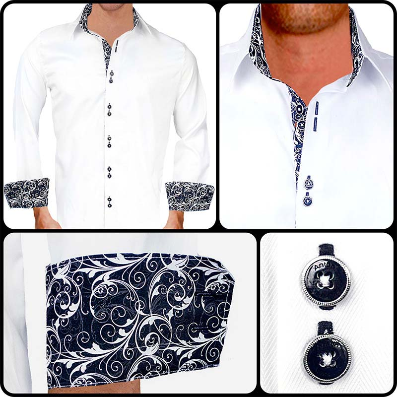 white-with-black-contrast-dress-shirts