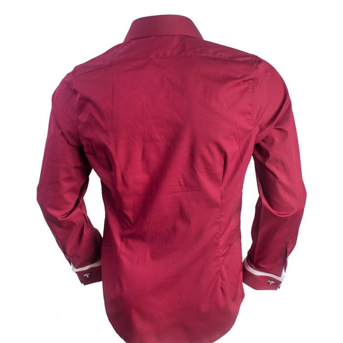 Maroon-French-Cuff-Dress-Shirts