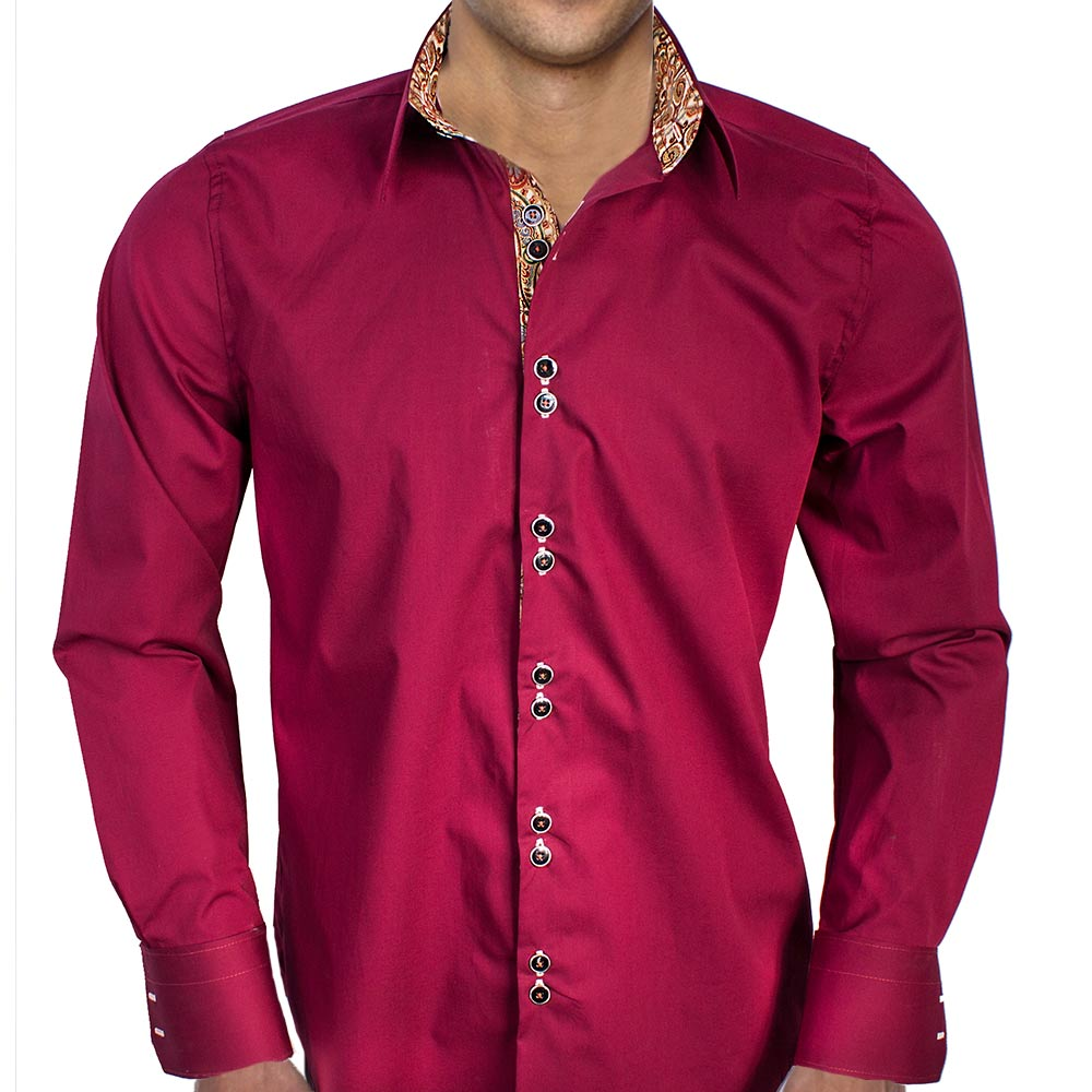 Contrast Color Dress Shirts