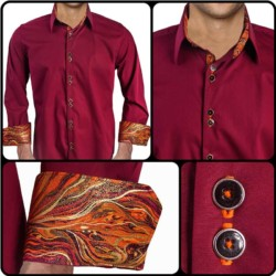 Maroon-with-Orange-Contrast-Dress-Shirt