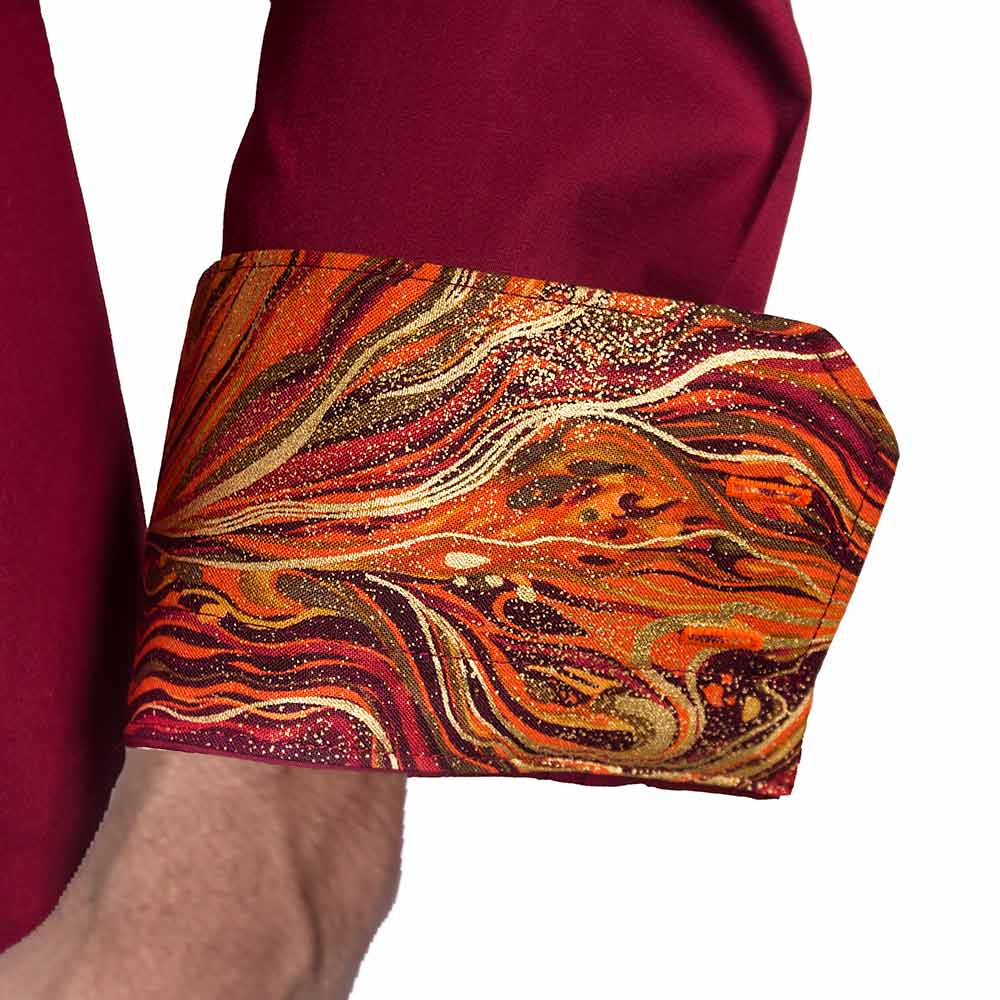 Maroon-with-Orange-Contrast-Dress-Shirts
