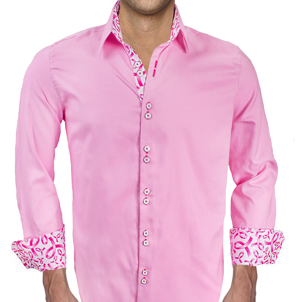 Pink Breast Cancer Awareness Dress Shirts