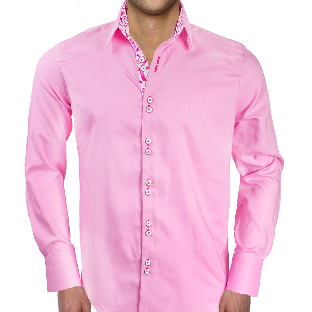 Pink-Ribbon-Dress-Shirts