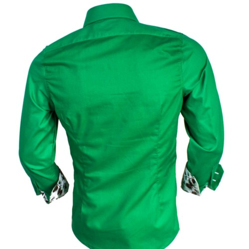 Mens-Green-Christmas-Dress-Shirts