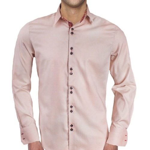 Cream-with-Maroon-Cuff-Dress-Shirts
