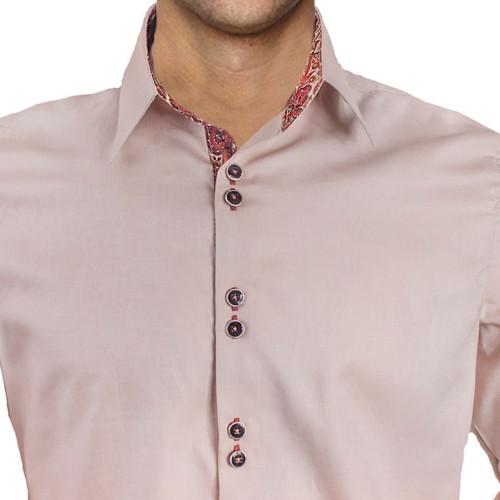 Tan-and-Maroon-Paisley-Dress-Shirts