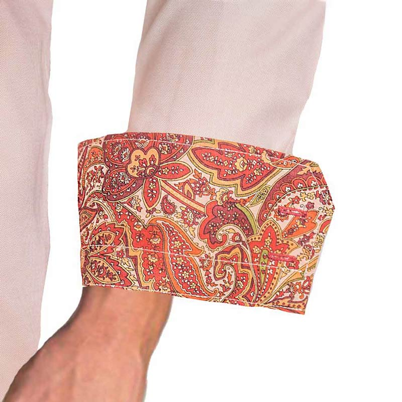 Tan-with-Maroon-Paisley-Cuff-Dress-Shirts
