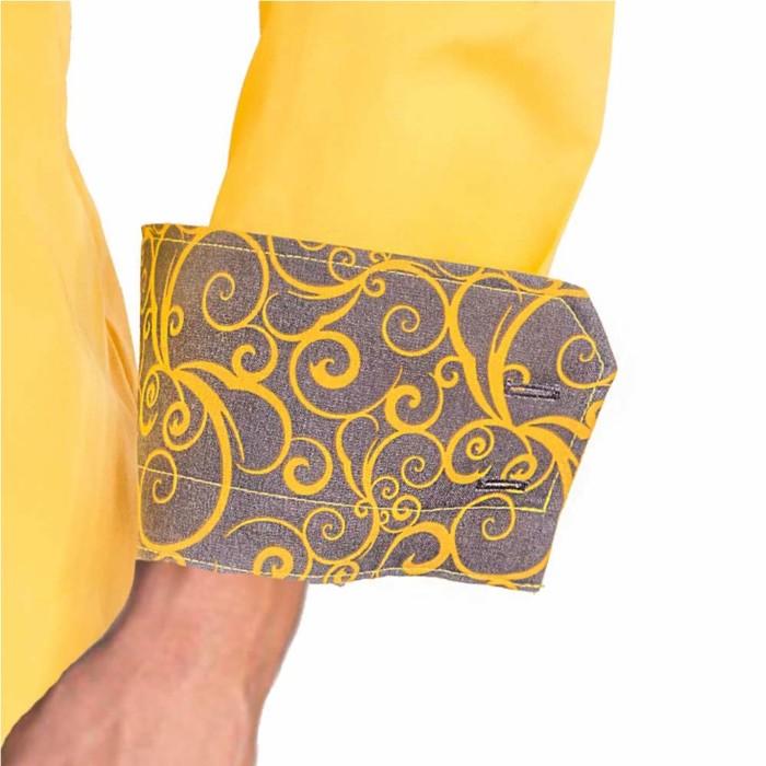 Yellow-and-Grey-cuffs-Dress-Shirts