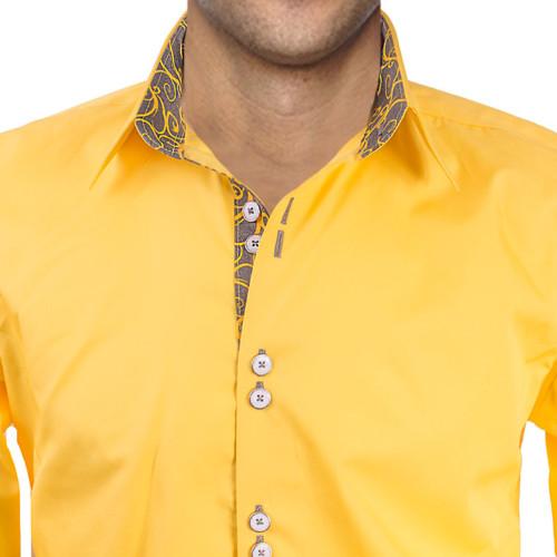 Bright yellow dress shirt