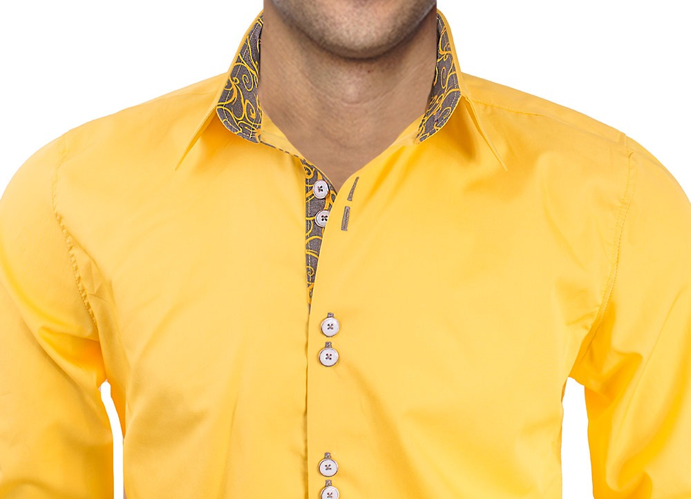 Yellow-with-Grey-Dress-Shirts