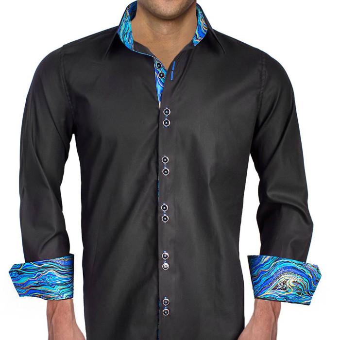 Black-with-Blue-Cuff-Dress-Shirts