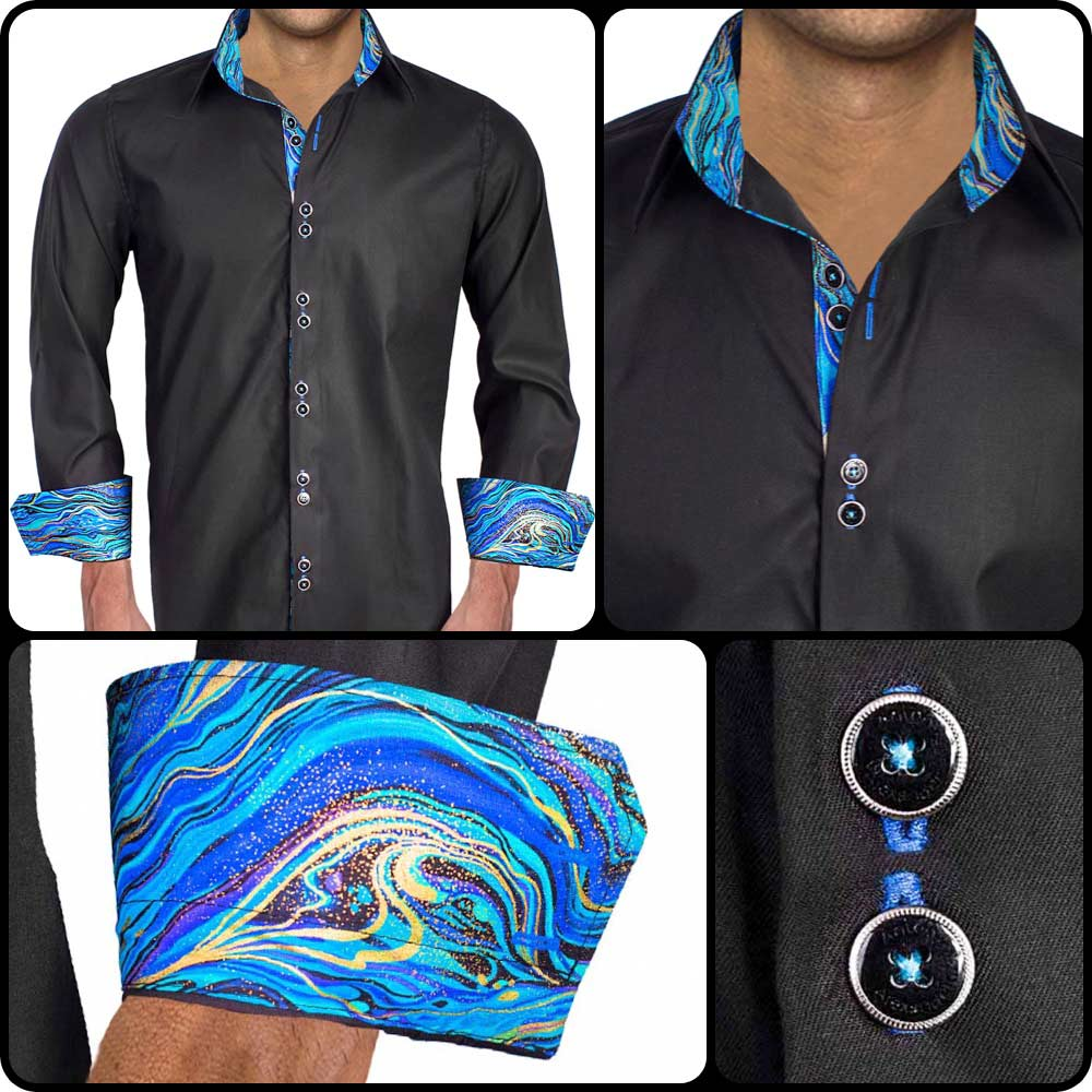 Black-with-Blue-Cuff-Dress-Shirts copy