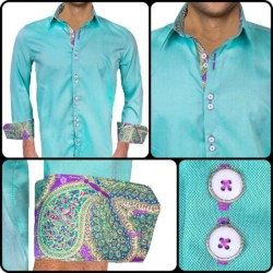 Bright-Green-Dress-Shirts-with-purple