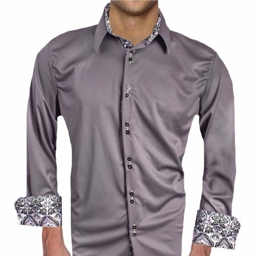Gray-Designer-Dress-Shirts