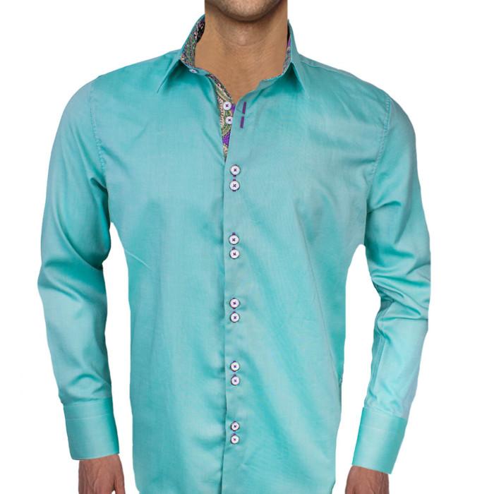 Green-with-purple-cuff-dress-shirts