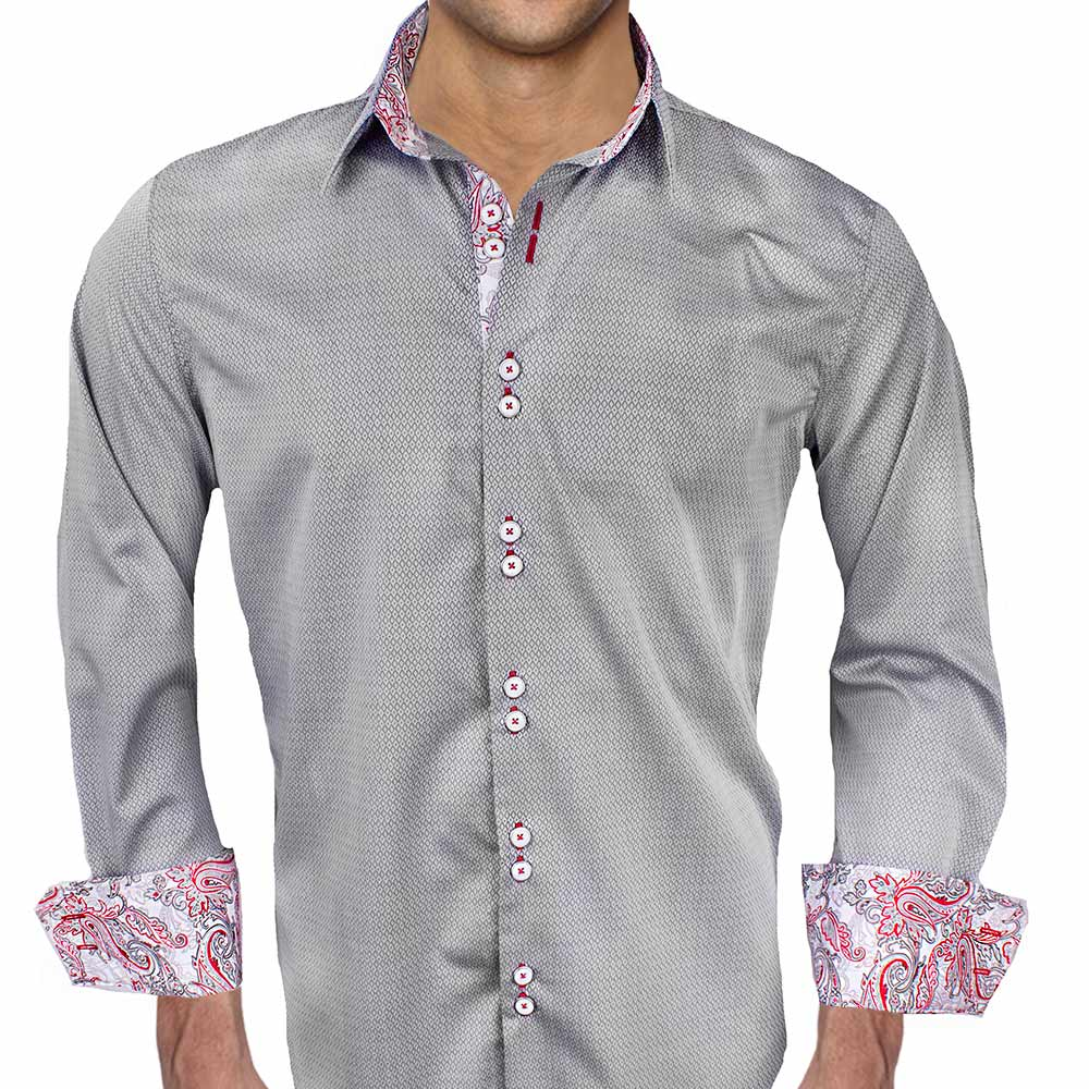 Grey-with-Red-Paisley-Dress-Shirts
