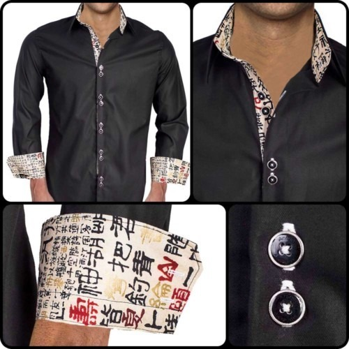 Chinese writing dress shirts