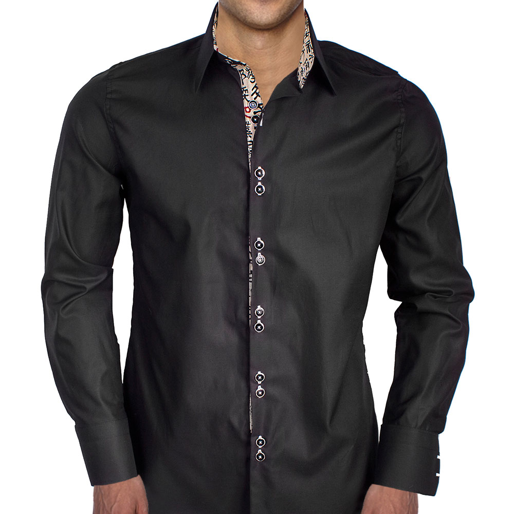 Chinese writing on cuffs dress shirts