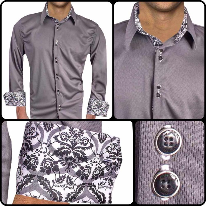 Mens-Gray-with-White-Cuff-Dress-Shirts