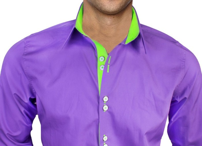 Purple-and-Neon-Green-Dress-Shirts