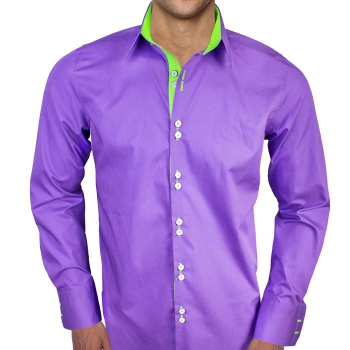 Purple-with-Neon-Green-Dress-Shirts