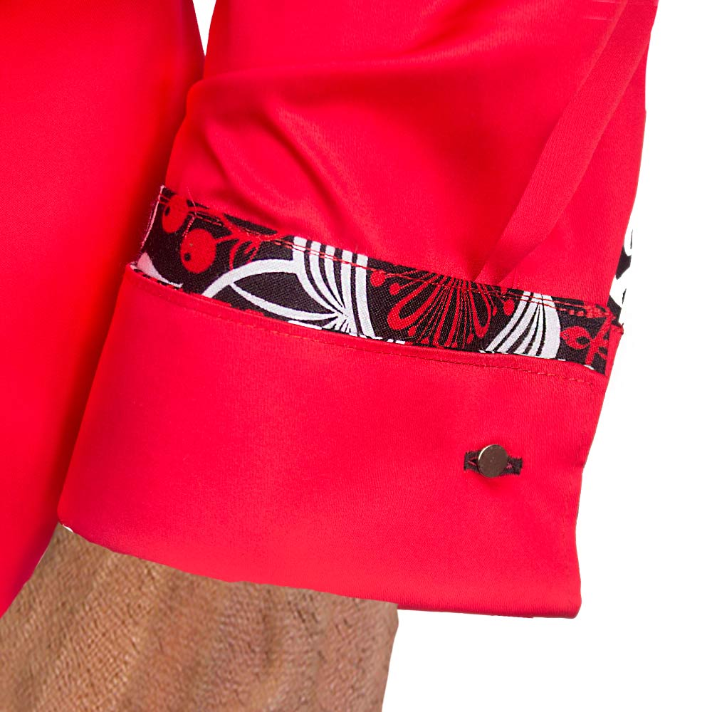 Red-and-Black-French-Cuff-Dress-Shirts
