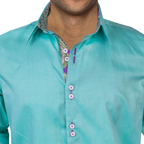 green-with-purple-dress-shirts